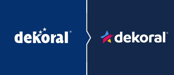 Rebranding Dekoral - porównanie starego i nowego logo