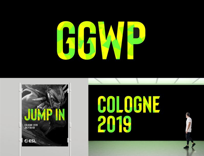 Typografia ESL 2019 - rebranding