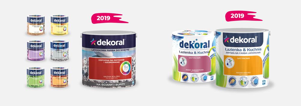 Nowe puszki Dekoral z nowym logo 2019