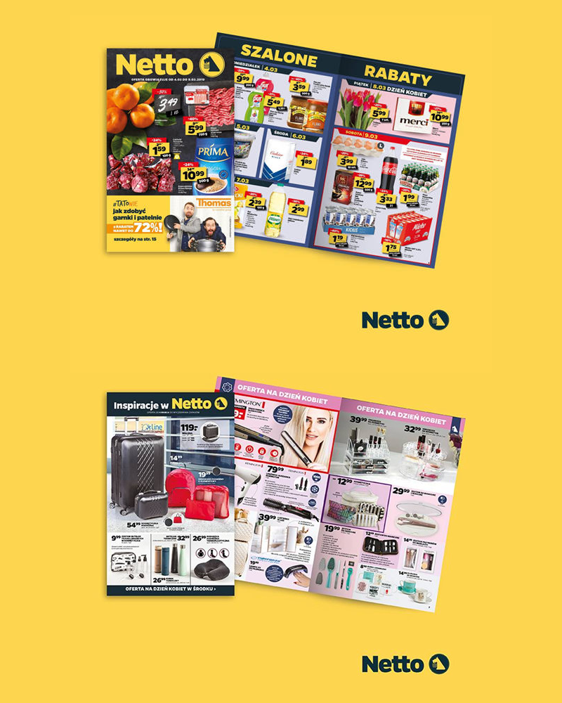 Nowy wzór gazetek Netto