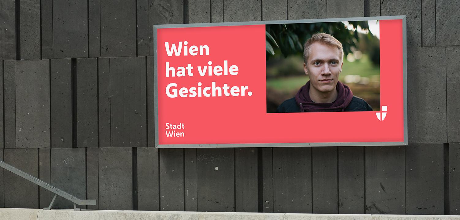 Plakat - nowa identyfikacja Wiednia