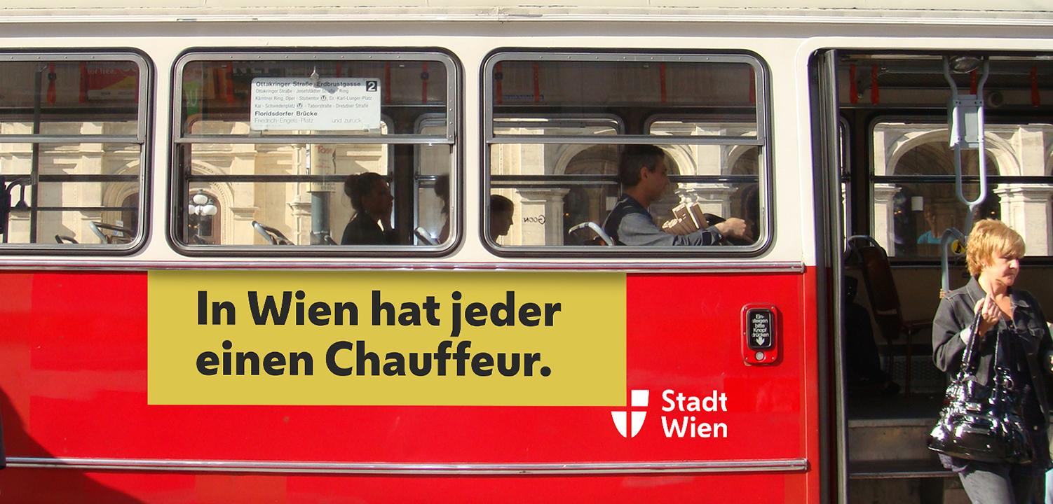 Identyfikacja miejska Wiednia - tramwaj z nowym logo