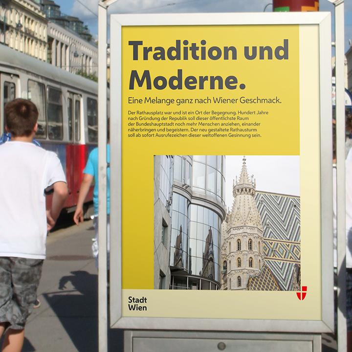 Plakat promocyjny w Wiedniu - rebranding