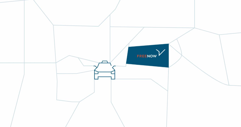 Motyw ulic i planu miasta w identyfikacji FREE NOW