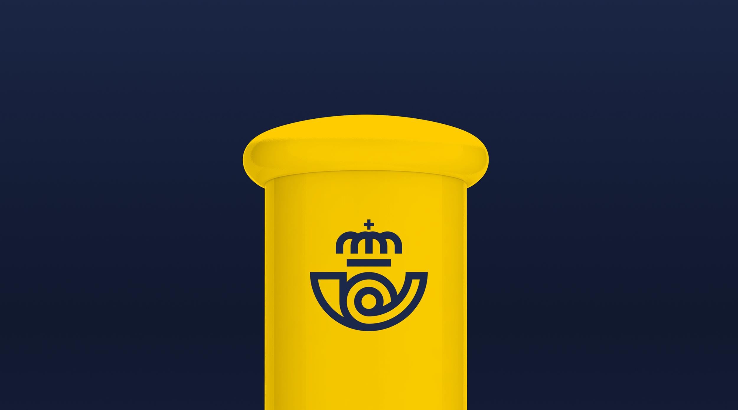 Nowe logo Correos na skrzynce pocztowej