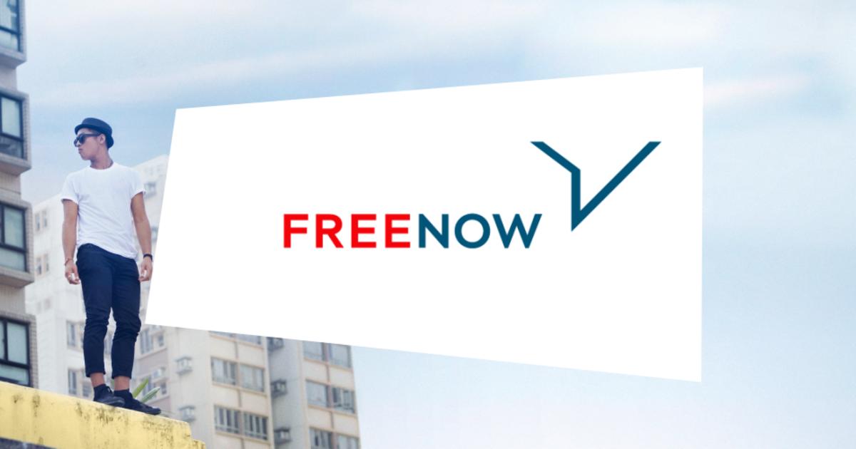 Nowe logo FREE NOW - wizualiacja